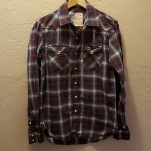 American Eagle Outfitters Pearl Snap Plaid Shirt